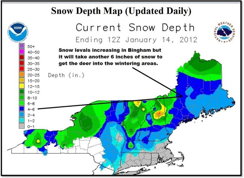Maine Snow Depth 2012