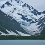 Byron Glacier Near Portage Lake in Alaska