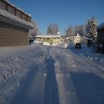 Wintertime in Alaska: High Noon and Alaska Range