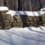 200-Year Old Fieldstone Wall in Winter