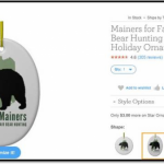 Anti Human HSUS's Bear Christmas Ornament