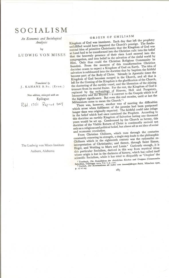 Von Mises Eschatology 001