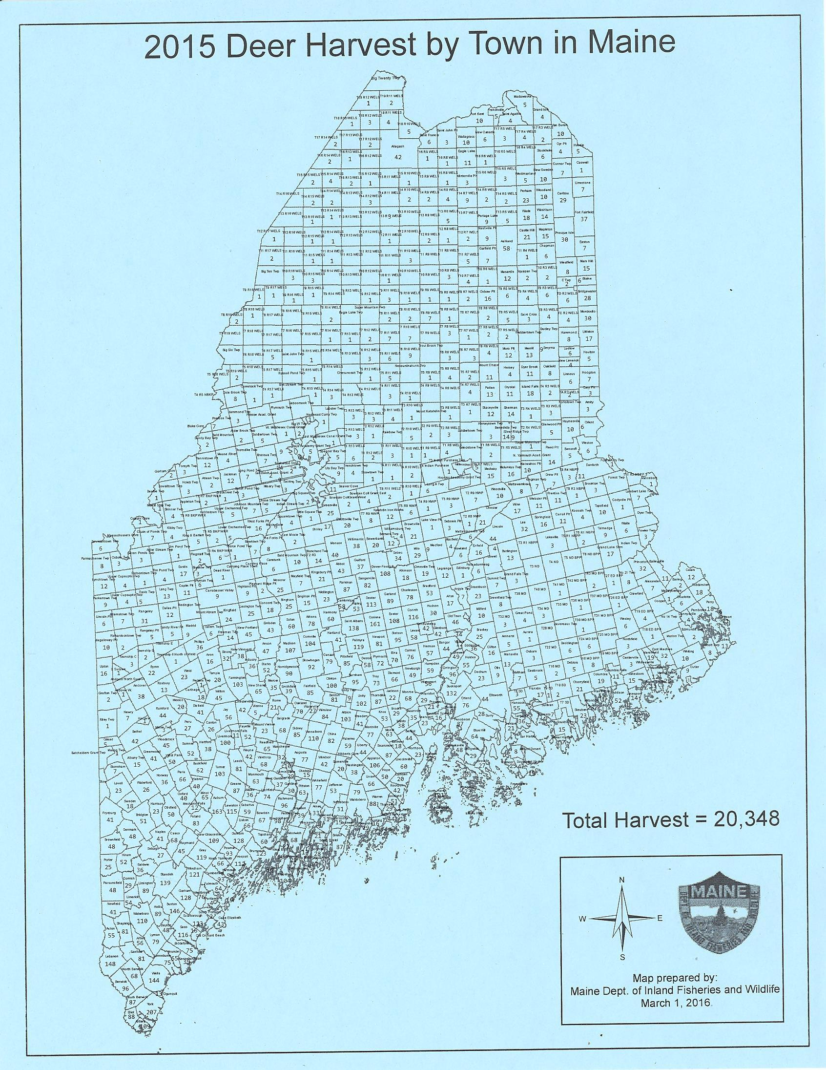 maine deer population map Maine Deer Harvest Dismal Why Are Sportsmen Happy With Management maine deer population map