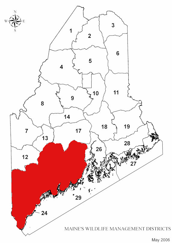 Plotting Deer Harvest on Map Paints Different Picture on maine zip code map, maine hunting districts map, maine state parks map, university of maine orono map, maine state police zone map, maine regions map, maine hunting zones map, maine on a map, maine power outage map, rockwood maine map, maine natural resource map, ashland maine map, maine narrow gauge railroad map, maine ski areas map, southern maine community college campus map, maine golf courses map, maine expanded archery map, maine lakes map, maine united states map, maine snow depth map,